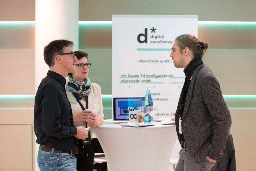 Stand 3D-Konfigurator der ObjectCode GmbH auf der Digital Excellence Conference