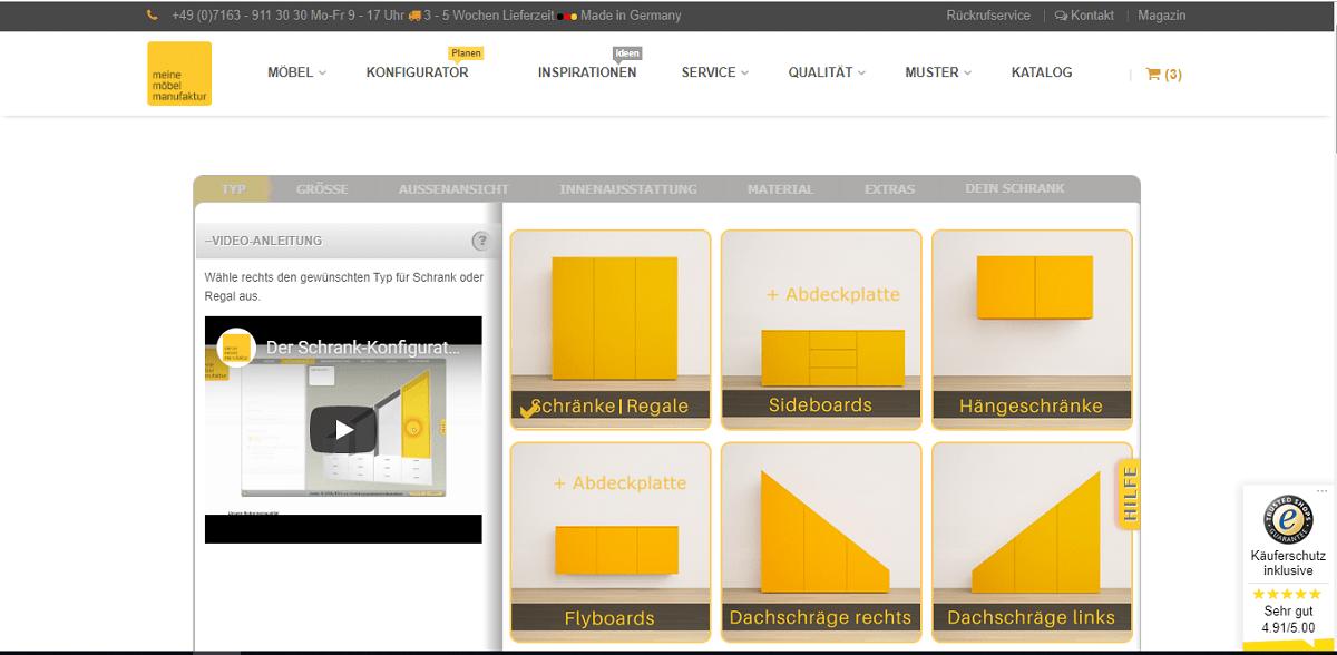 moebelmanufaktur screenshot ObjectCode GmbH schrankplaner traumschrank schrank-nach-maß konfigurator